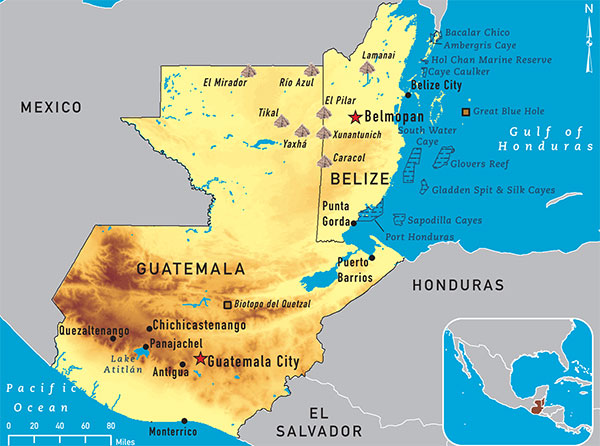 Today, this is the OFFICIAL MAP of BELIZE